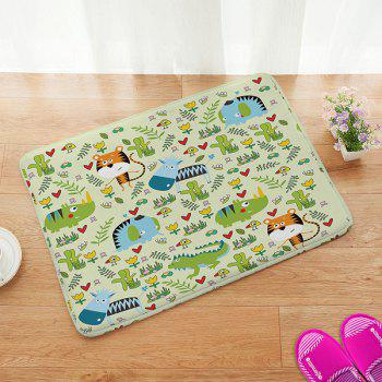 Cartoon Animal Design Anti-slip Bathroom Doormat Carpet - COLORFUL COLORFUL