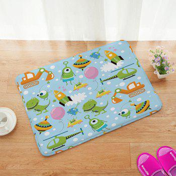 Home Decor Anti-slip Bathroom Universe Cartoon Doormat Carpet - COLORFUL COLORFUL