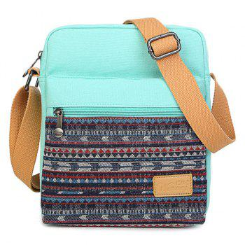 Canvas Color Block Crossbody Bag