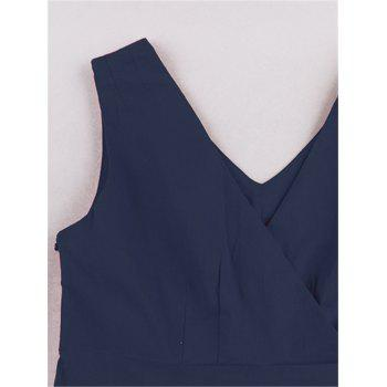 Retro Sleeveless Tea Length Party Dress - PURPLISH BLUE M