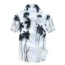 Short Sleeve Tree Printed Hawaiian Shirt