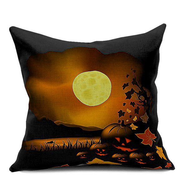 Home Decor Halloween Pumpkin Sofa Cushion Pillow Case - DEEP BROWN