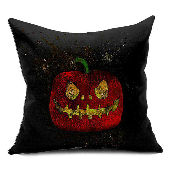 Pumpkin Printing Sofa Cushion Halloween Pillow Case - BLACK