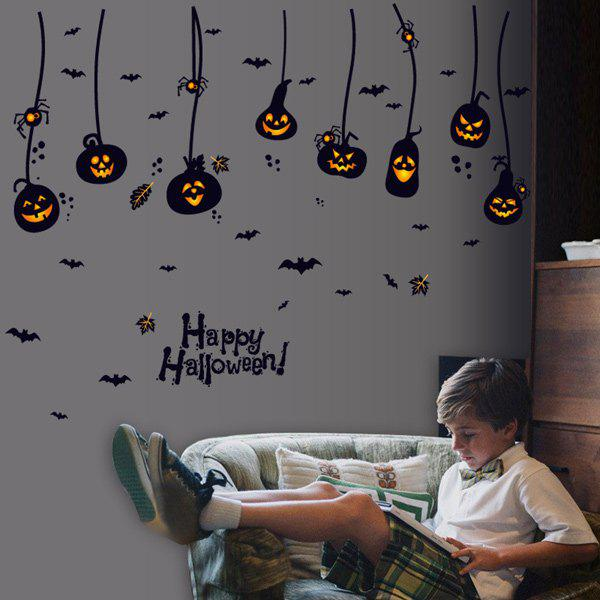 Home Decor Pumpkin Lantern Halloween Wall Sticker