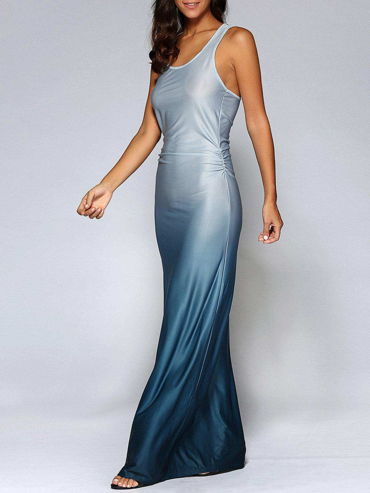 Fitting Ombre Maxi DressWomen<br><br><br>Size: S<br>Color: BLUE