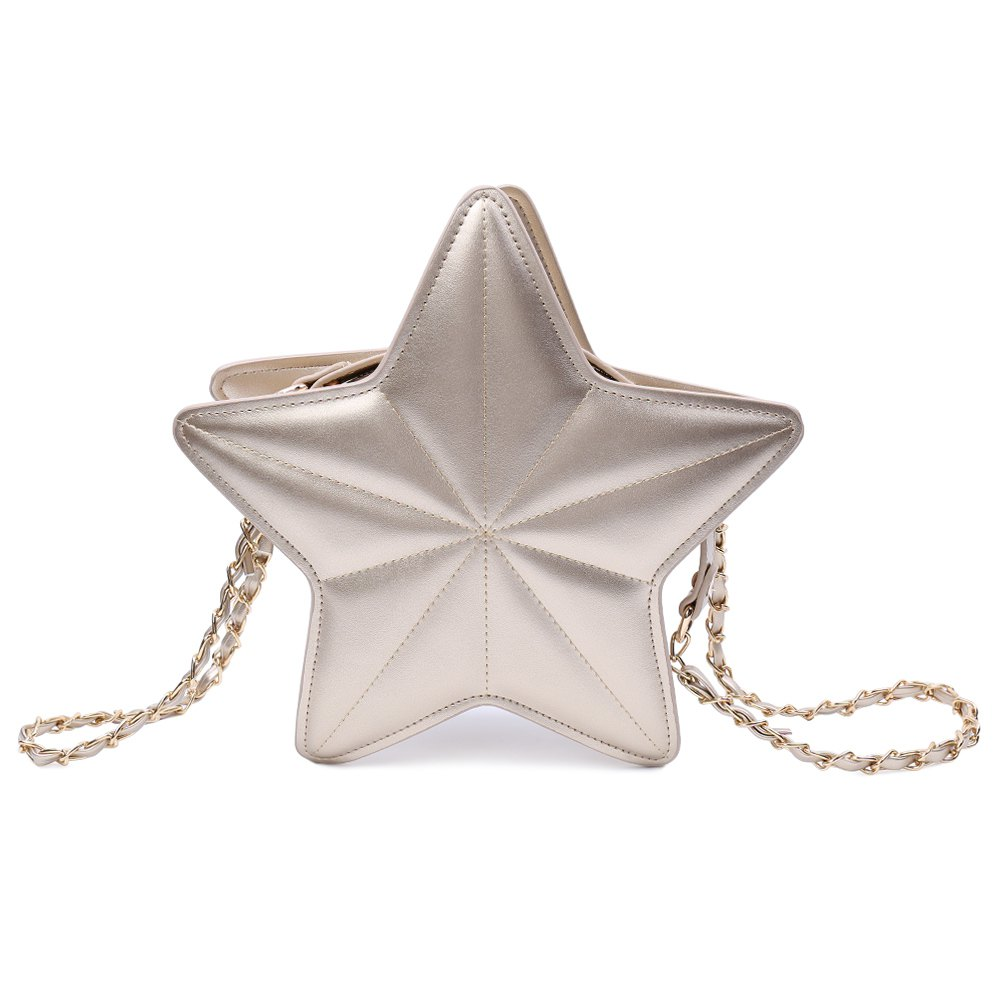 Chic Star Shape and Chains Design Women's Crossbody Bag - GOLDEN
