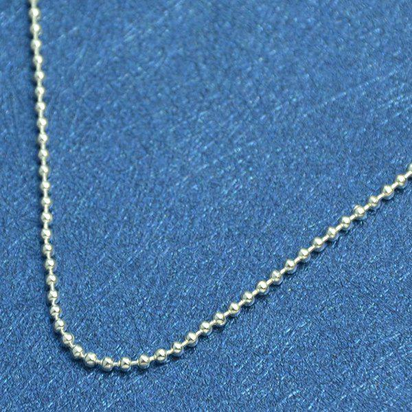Beaded Adorn Chain Anklet - SILVER