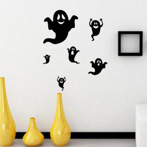 Home Decor Ghost Design Halloween Wall Sticker - BLACK