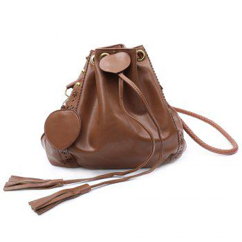 Retro Hollow Out and Drawstring Design Women's Crossbody Bag