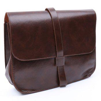 Stylish Belt and Solid Color Design Crossbody Bag For Women - COFFEE