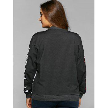 Single-Breasted Color Block Jacket - 4XL 4XL