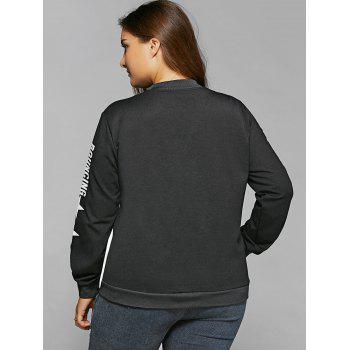 Single-Breasted Color Block Jacket - 3XL 3XL