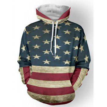 Star Print Couleur Spliced ​​rayé Sweat à capuche