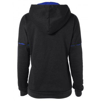 Drawstring Big Pocket Hoodie - BLACK BLACK