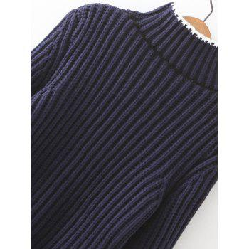 Ribbed Bell Sleeves Bowknot Sweater - ONE SIZE ONE SIZE