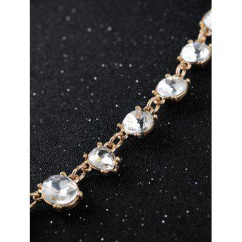 Faux Crystal Water Drop Necklace -  GOLDEN