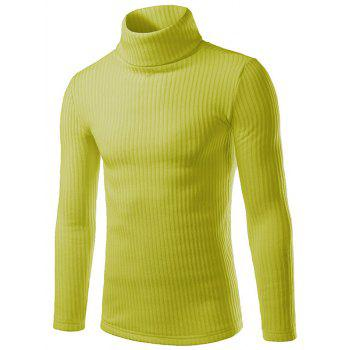 Turtle Neck Long Sleeve Slimming Knitting Sweater