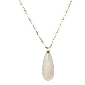Teardrop Natural Stone Necklace