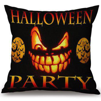 Decorative Soft Happy Halloween Party Printed Pillow Case - COLORMIX COLORMIX