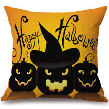 Hot Sale Happy Halloween Soft Pumpkins Printed Pillow Case