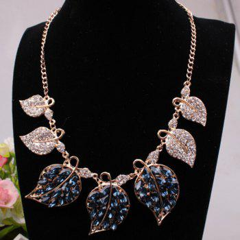 Rhinestone Filigree Leaf Necklace