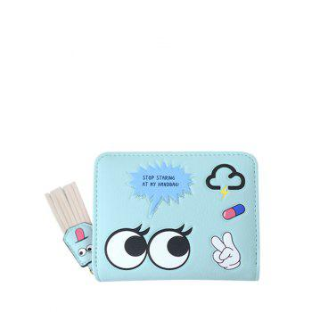 PU Leather Big Eyes Cartoon Small Wallet
