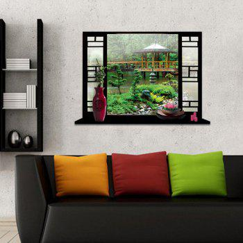 Environmental Protection 3D Stereo Garden Window Design Wall Stickers