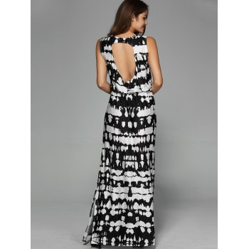 Back Hollow Out Split Maxi Dress