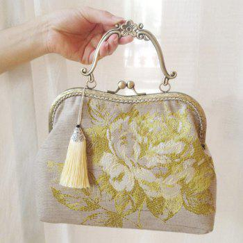 Tassels Kiss Lock Embroidery Tote Bag