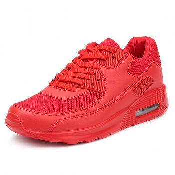 Lace-Up Splicing Breathable Athletic Shoes - RED 40