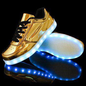 Lights Up Metallic Finish Led Luminous Casual Shoes