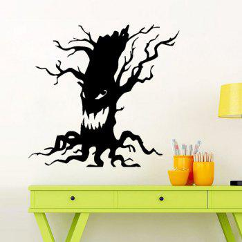 Home Decor Ghost Tree Design Halloween Wall Sticker - BLACK