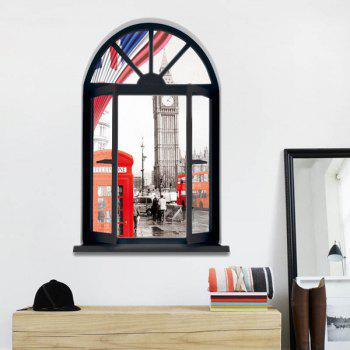 3D Stereo London Streetscape Window Design Wall Stickers