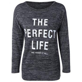 Loose-Fitting Graphic Letter Print T-Shirt