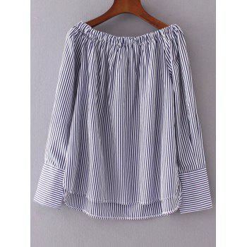 High Low Striped Blouse - STRIPE L