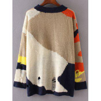 Color Block Jumper - ONE SIZE ONE SIZE