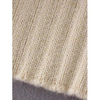 Double Slit Sweater - CADETBLUE ONE SIZE
