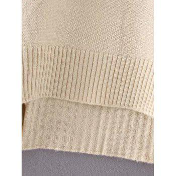 Double Slit Sweater - ONE SIZE ONE SIZE