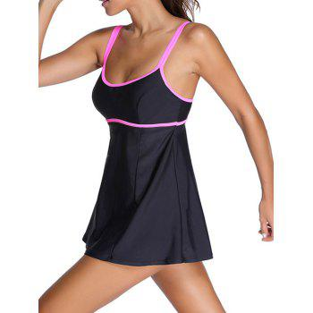 Halter Ruffle Padded Tankini With Underwire - 2XL 2XL