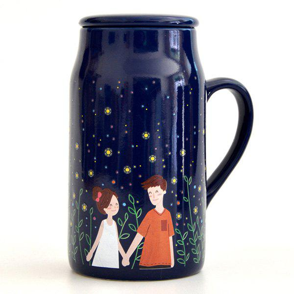 Lovers Glowworm Night Magic Color Changing Mug - DEEP BLUE