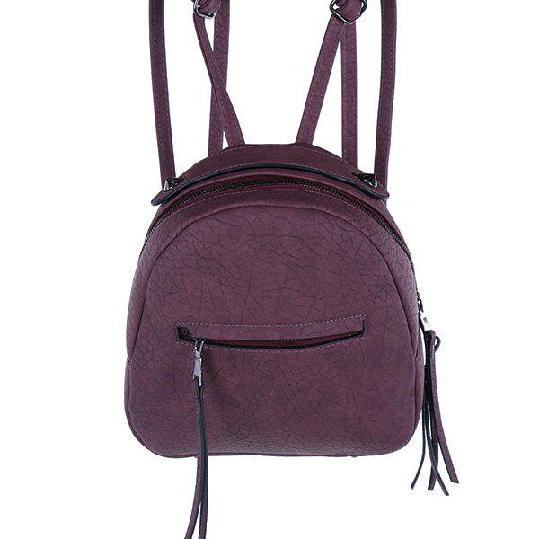 Small Tassels Backpack - PURPLE
