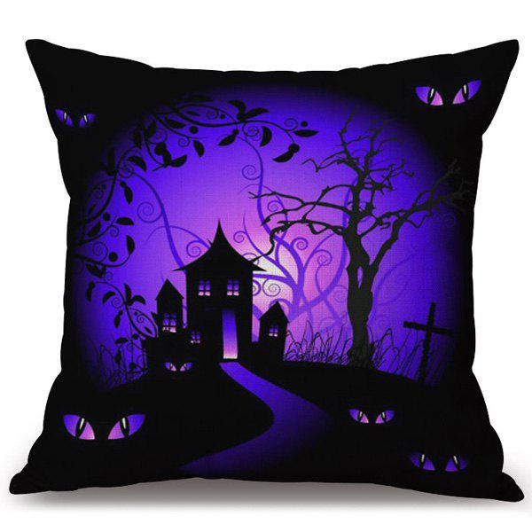 Halloween Horror Night Decorative Pillow Case - COLORMIX