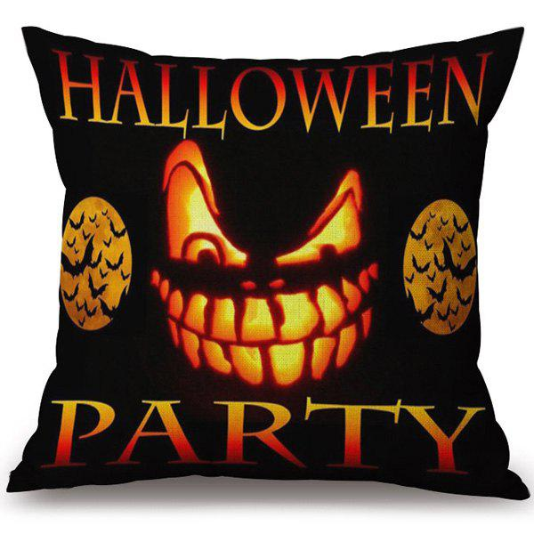 Decorative Soft Happy Halloween Party Printed Pillow Case - COLORMIX