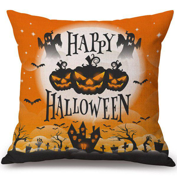 Happy Halloween Pumpkin Printed Soft Pillow Case handpainted pineapple and fern printed pillow case