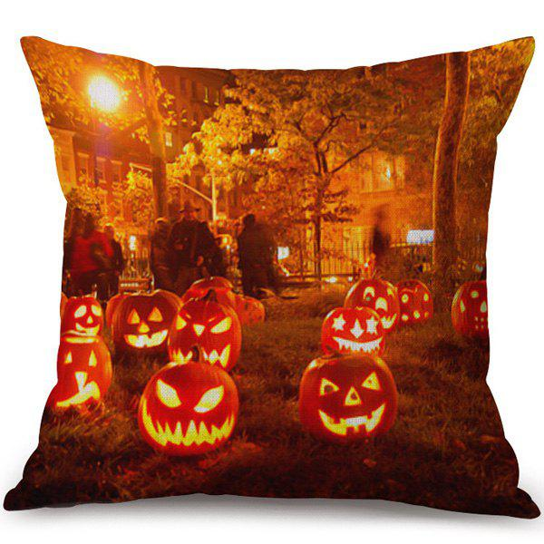 Happy Halloween Soft Pumpkins Ghost Printed Pillow Case handpainted pineapple and fern printed pillow case