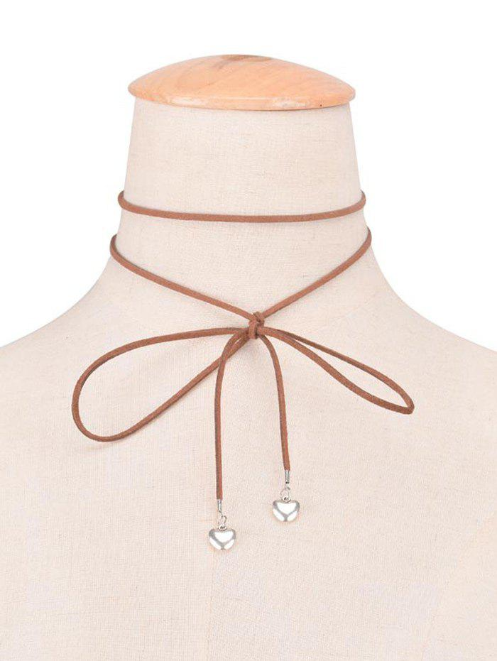 Faux Leather Velvet Heart Bowknot Choker Necklace faux leather velvet chains bowknot choker
