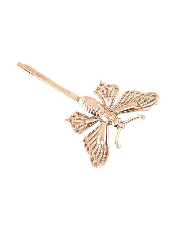 Vintage Alloy Butterfly Shape Hairpin - INFERIOR GOLD