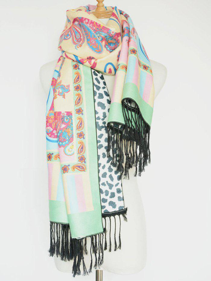 Ethnic Paisley and Leopard Pattern Tassel Shawl Scarf масляный обогреватель oasis ot 15