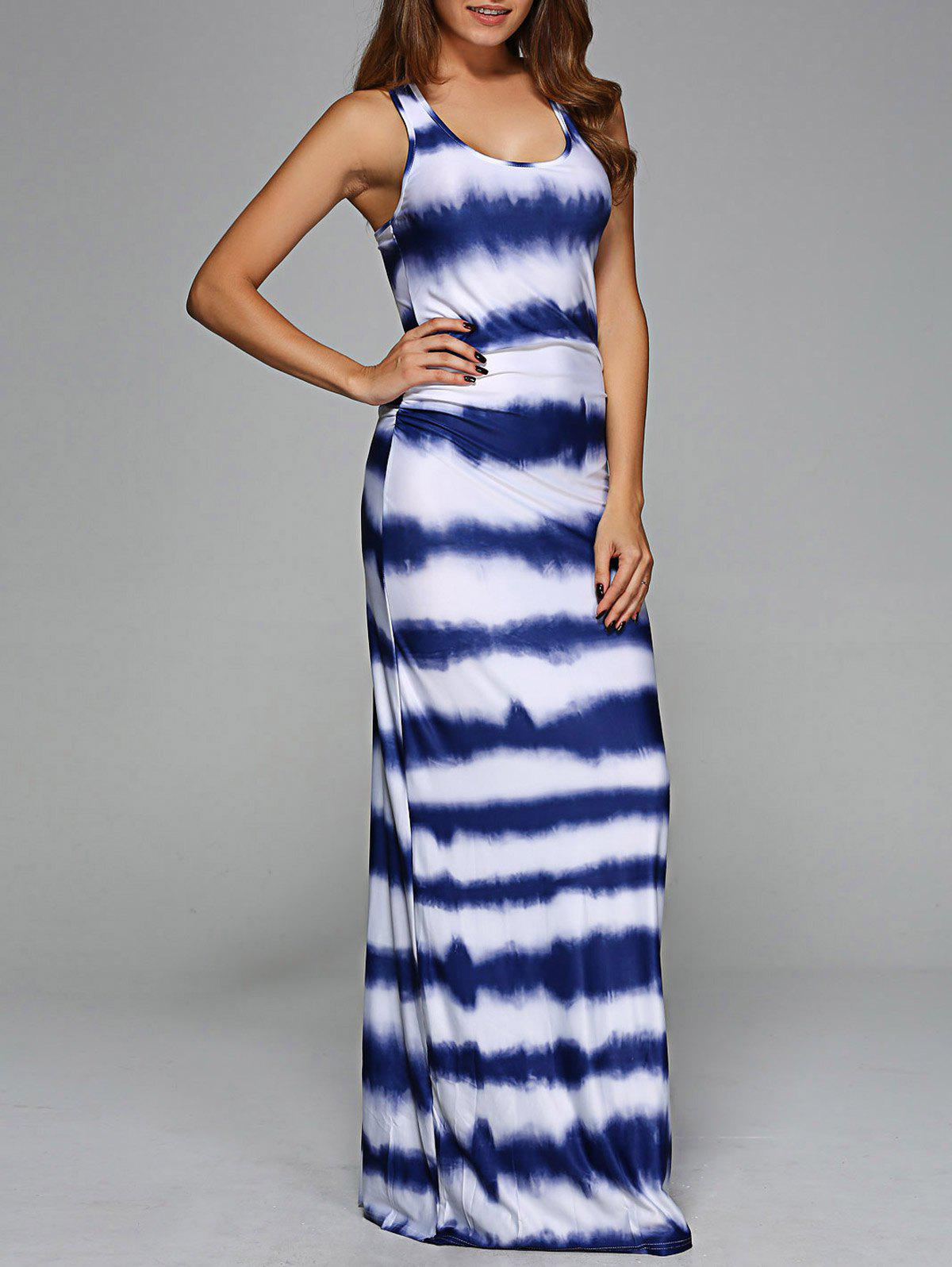 Scoop Neck Tie-Dye Maxi DressWomen<br><br><br>Size: L<br>Color: COLORMIX
