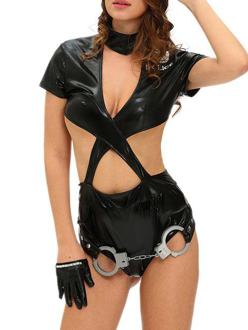 Police Adult Halloween Costume - BLACK S